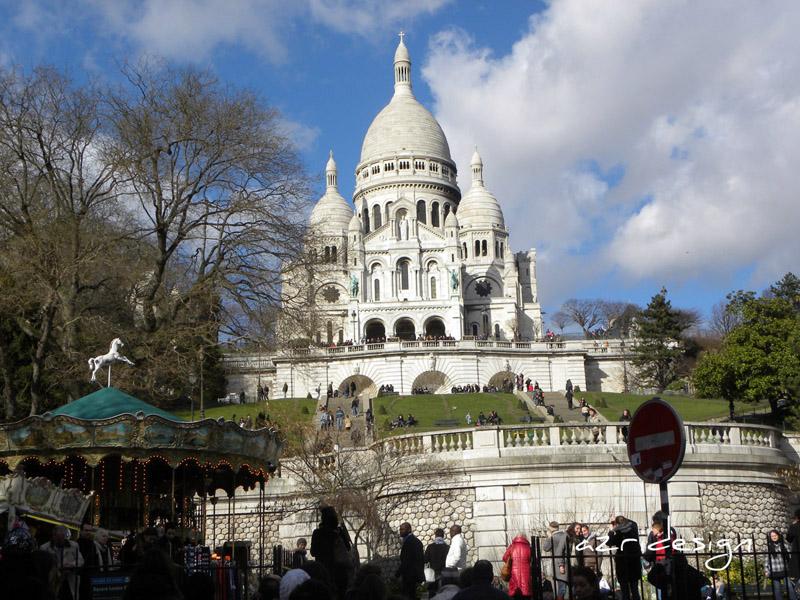 Vue de la Basilique de Sacre Coeur à Montmartre, Paris, France, 2010
