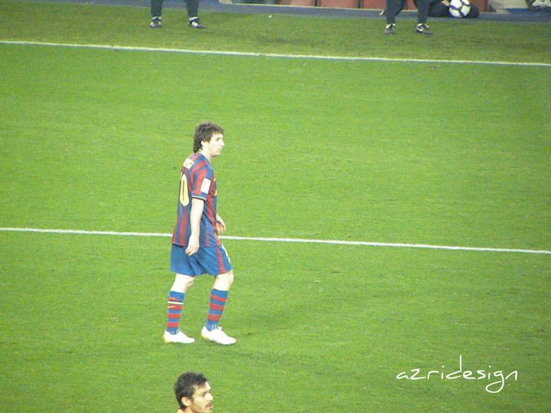 FC Barcelona's Lionel Messi of Argentina in Camp Nou stadium, Spain, 2010