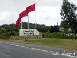 Welcome to the M'diq city - M'diq, Morocco, 2011