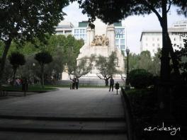 Monument to Miguel de Cervantes, Plaza de Espana, Madrid, Spain, 2007