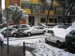 Unusual to see this much snow in Madrid, Spain, January 2009