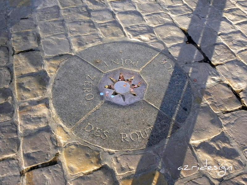 Point zéro devant Notre Dame de Paris - Paris, France, 2010