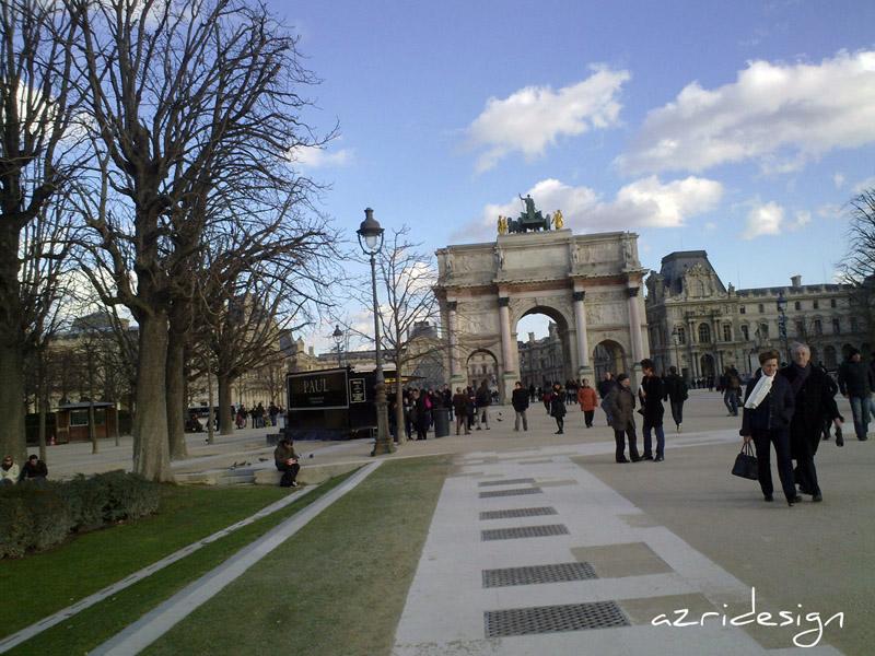 Arc de Triomphe du Carrousel, le Louvre - Paris, France, 2010