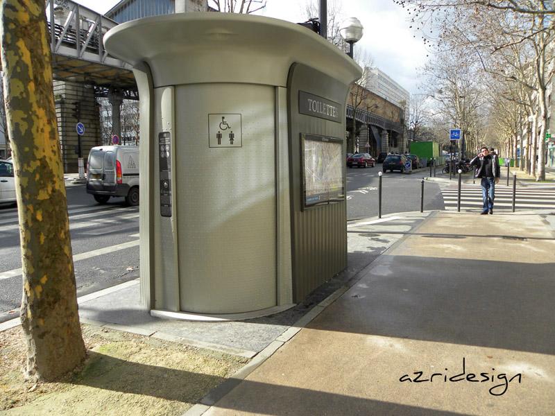 """Toilette publique """"écolo"""" de Paris. Joli design en effet ! Paris, France, 2010"""