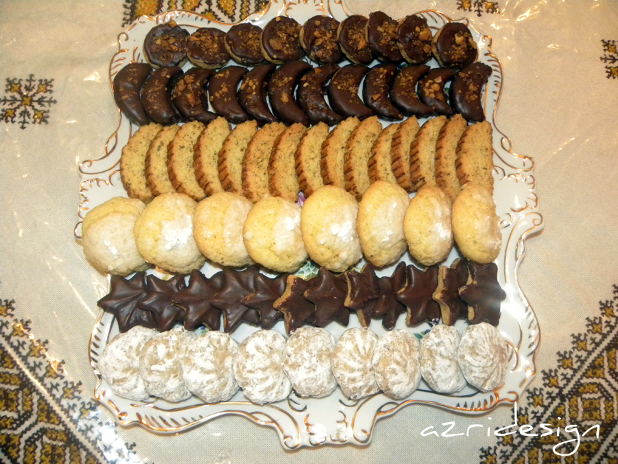 Plateau de gâteaux marocains - Meknes, Maroc 2010