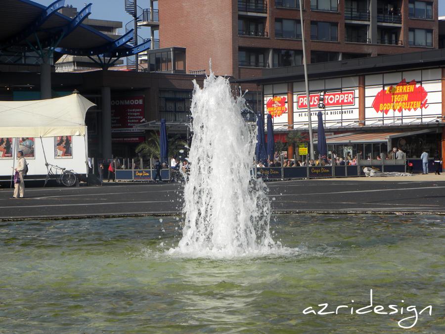 The fountain In front of In de Bogaard shopping center - Rijswijk, Netherlands