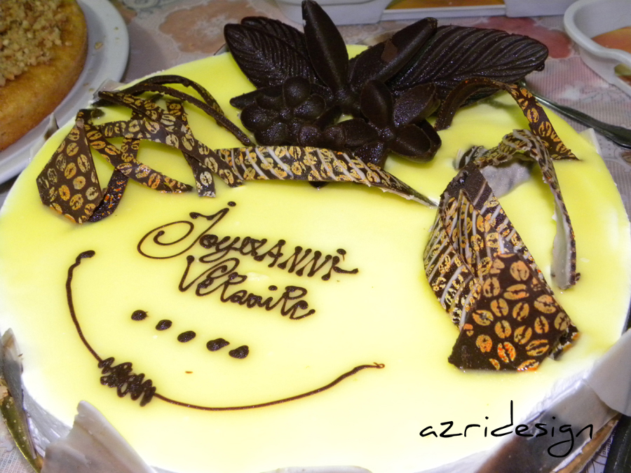Chocolate and cream tart - Meknes, Morocco 2011