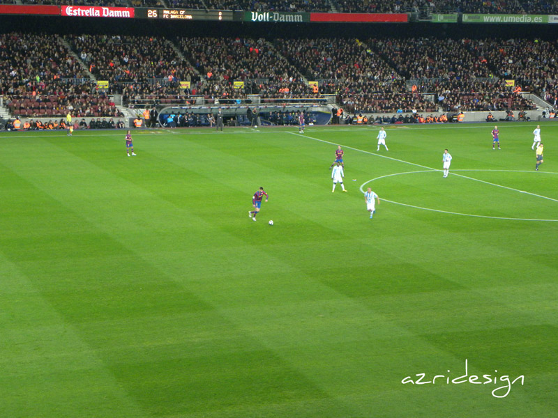 At the Camp Nou stadium in Barcelona, Spain, 2010