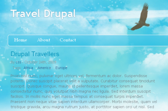 Free Drupal 6 Theme, Drupal Travel