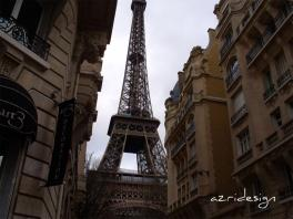 Eiffel tour from Avenue de Suffren,. Suffren is one of the most prestigeous aven