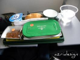 Inflight food (Plat: poulet au citron), Royal Air Maroc - From Amsterdam to Casa