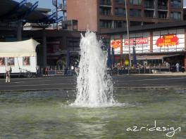 The fountain In front of In de Bogaard shopping center - Rijswijk, Netherlands