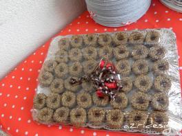 Moroccan pastry, honey-sesamse thumbprint cookies - Rijswijk, Netherlands 2011