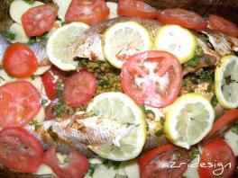 Tajine de poisson farci au riz - Meknes, Morocco 2011