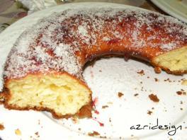 Morocan Coconut and vanilla flavored cake - Meknes, Morocco 2011