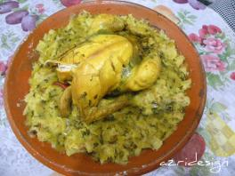 The famous Moroccan chiken Rfissa known as Bormach - Meknes, Morocco 2011