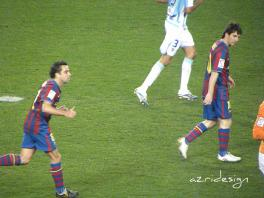 FC Barcelona's Lionel Messi of Argentina in Camp Nou stadium, Spain, 2010