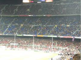 View of the Camp Nou, Barcelona, Spania, 2010